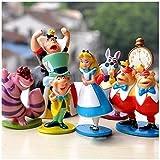 Alice in Wonderland Figures 1.5 to 3.5 Inches- Vinyl Set of 6