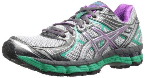 ASICS Women's GT 2000 2 Trail Running Shoe,Titanium/Purple/Emerald,8.5 M US
