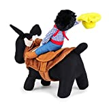 DD&DEE@ Pet Costume Apparel Dog Riders Cowboy Wear Style Knight Harness Clothing with Hat Size Medium.