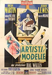 Artists and Models Movie Poster (11 x 17 Inches - 28cm x 44cm) (1955) Italian Style A -(Dean Martin)(Jerry Lewis)(Shirley MacLaine)(Dorothy Malone)(Eddie Mayehoff)(Eva Gabor)