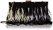 BCBG Layered Feather Clutch