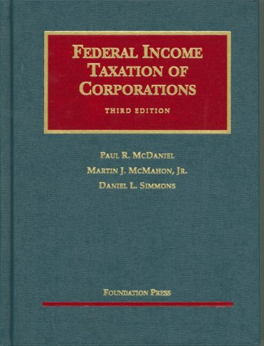 Federal Income Taxation of Corporations (University...