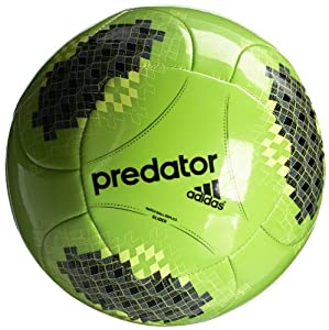 adidas Ballon de football Predator Vert/Noir/Jaune Taille 5