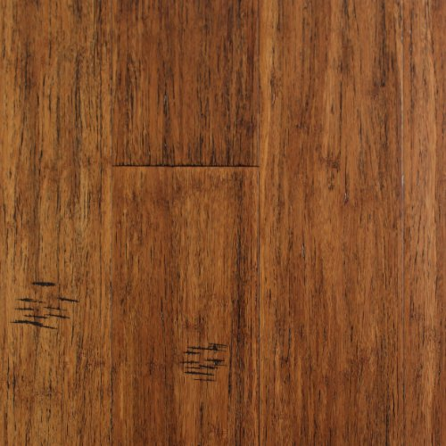 Handscraped TruCore Strand Bamboo Hardwood Flooring Whiskey By EcoFusion Flooring