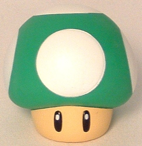 Picture of Banpresto Super Mario Brothers Collectible Vinyl Mushroom Green Figure (B001KPLZ6M) (Banpresto Action Figures)