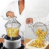 aliciashouse pliable vapeur Rincer la Bonde à panier à frire Chef Filet de cuisson Cuisine Outil