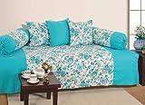 Swayam Diwan-e-Khaas Cotton 6 Piece Diwan Set - Turquoise (DWN16-2711)