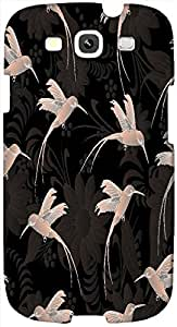 Timpax Protective Hard Back Case Cover Printed Design : Group of humming birds.Precisely Design For : Samsung I9300 Galaxy S III ( S3 )
