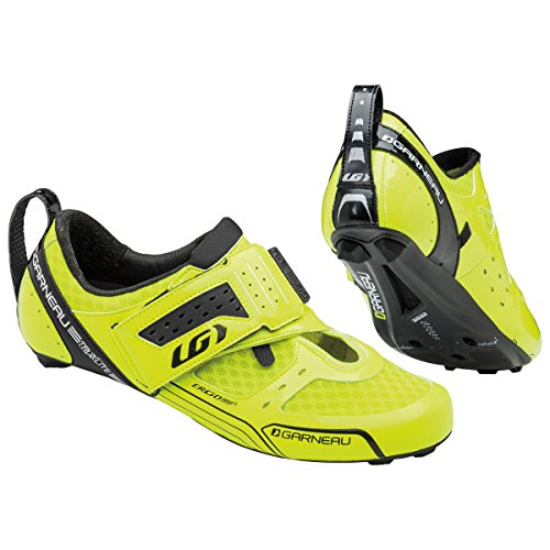Louis Garneau Men's Tri X-Lite Cycling Shoes, Bright Yellow, 445 (Garneau Cycling Shoes compare prices)