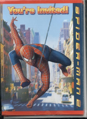 Marvel Spider-Man 2 Birthday Party Invitations - 8 Pack of Cards and Envelopes - 1