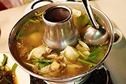 HOT POT THAI TOM YUM PRAWN SOUP CHAFING DISH BOWL KOREA ALUMINIUM COOK WARE 22cm