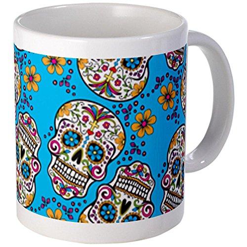 Cafepress Day Of The Dead Sugar Skull, Halloween Mugs - Standard Multi-Color