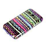 DeinPhone Hard Shell Protective Mobile Phone Case for Samsung Galaxy Ace 3 with Colourful Zig-Zag Design