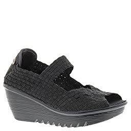 Bernie Mev Womens Hallie Black Wedge - 37