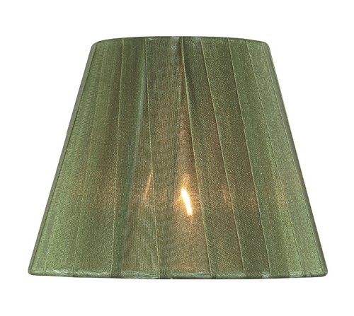 Lite Source CH5209-5 5-Inch Lamp Shade, Green Pleated