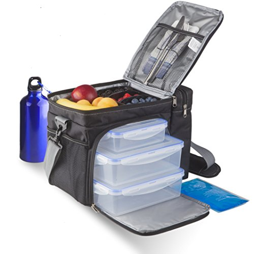 Premium Meal Prep Bag by Sisianti + Leak-Proof Meal Prep Containers And An Ice Pack Included - Insulated Meal Prep Lunch Box Made For Fitness, Work and Family Picnics (Meal Pack compare prices)