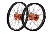 "ProTrax Complete Wheel Rim Set Orange Hub Front&Rear 21""&19"" 125 150 250SX 13-14"