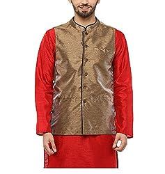 Yepme Men's Multi-Coloured Blended Nehru Jackets - YPMNJKT0043_L