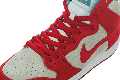 Nike Men's Dunk High Pro SB Gym Red/Gym Red/White Skate Shoe 8 Men US