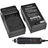 Insten® Compact Battery Charger Set Compatible with Sony NP-FP50 / 70 / 90 / NP-FH50 / 40 / 60 / 10