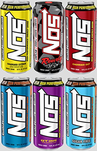 NOS High Performance Energy Drinks (6 Flavor Variety Pack) (Nos Energy Drinks compare prices)
