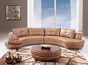 Peachy 7 Global Furniture Usa Bonded Leather Sectional Sofa Honey Bralicious Painted Fabric Chair Ideas Braliciousco