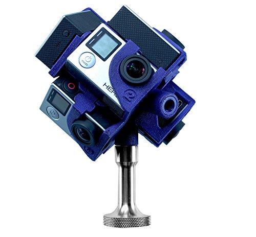 360Heros Pro7   360 Degree Plug-n-Play Filming 7 Cameras Holder for GoPro Hero3