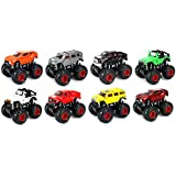 Set Of 8 Big Foot Monster Truck Childrens Kids Friction Toy Truck Ready To Run, High Speed 4 Wd Climbing, No Batteries...