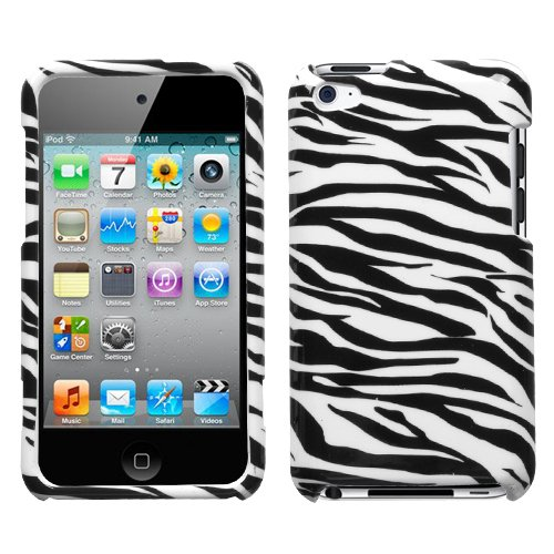 Snap-On Protector Hard Case for iPod Touch 4th Generation 4th Gen - Zebra