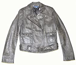 Ralph Lauren Women Vintage Cropped Leather Jacket
