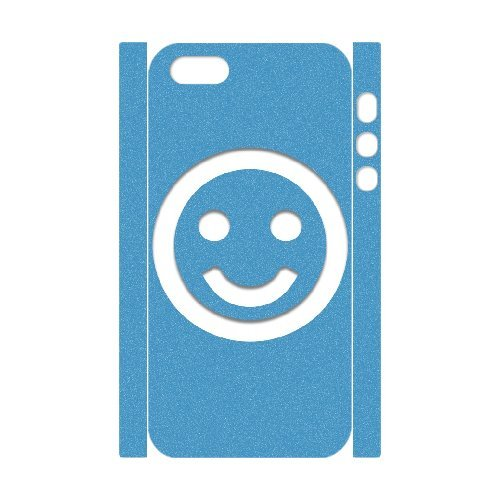 3D IPhone 5,5S Case, Smile 16 Case for IPhone 5,5S {White}