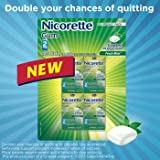 Nicorette Gum Fresh Mint 2 mg - 8 Pocket Packs x 25 Pieces Each - 200 Count