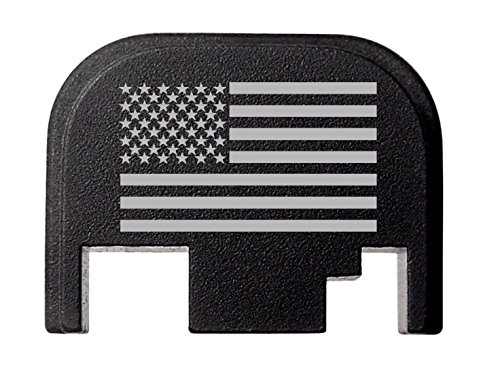 Rear Cover Slide Back Plate For Glock 17 17L 19 21 22 23 24 26 27 29 30 31 32 33 34 35 36 37 38 39 40 41 Gen 1-4 US Flag By NDZ Performance (Glock 22 Gen Slide compare prices)