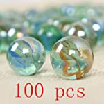 100 Kids Glass Marbles Traditional Co...