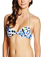 JUST CAVALLI Sujetador de Bikini (Blanco / Negro / Azul)