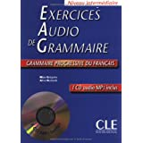 Exercices audio de grammaire: Grammaire progressive du fran�ais - Niveau interm�diaire + CD audio MP3by Ma�a Gr�goire