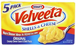 Velveeta Kraft Shells and Cheese, 12 Ounce (Pack of 5)