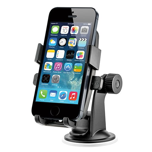 iOttie Easy One Touch Windshield Dashboard Car Mount Holder for iPhone 6s/6, Galaxy S7/S6- Retail Packaging- Black