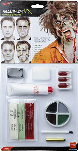 Zombie Latex Kit, Face Paint, Fake blood, Gel Blood, Liquid Latex, Horror Flesh and Applicators (maquillaje/ pintura de cara)