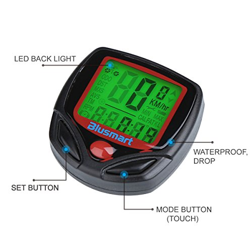 Blusmart® Outdoor Sport Waterproof LCD Computer Odometer Speed Meter Cycling Bicycle