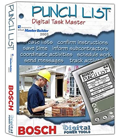 Bosch Punch List Digital Task Master, Master Builder 2003 Version #BDPTPLMB (DVD-ROM)