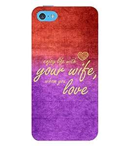 EPICCASE love to spouse Mobile Back Case Cover For Apple iPhone 5c (Designer Case)