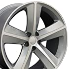 20-inch Fits Dodge - Challenger SRT Aftermarket Wheels - Silver Machined Face 20x9 - Set of 4