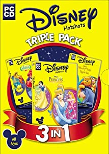 Disney Triple Pack (The Little Mermaid, Winnie the Pooh & Tigger Too, Princess Fashion Boutique)