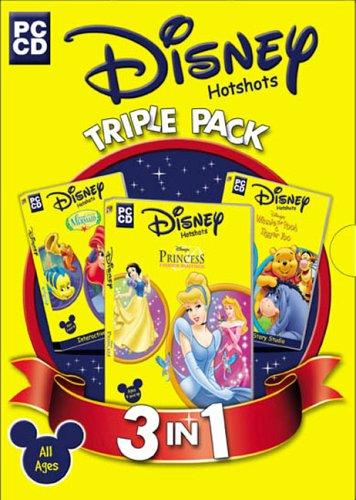 Disney Triple Pack (The Little Mermaid, Winnie the Pooh & Tigger Too, Princess Fashion Boutique)