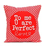 Perfect Love Heart Printed Cushion Gift for Valentine GIFTS110149 Romantic Valentine Gift,Valentine Gift for Him,Valentine Gift for Her,Valentine Gift for Boyfriend,Valentine Gift for Girlfriend,Valentine Gift for Husband,Valentine Gift for Wife