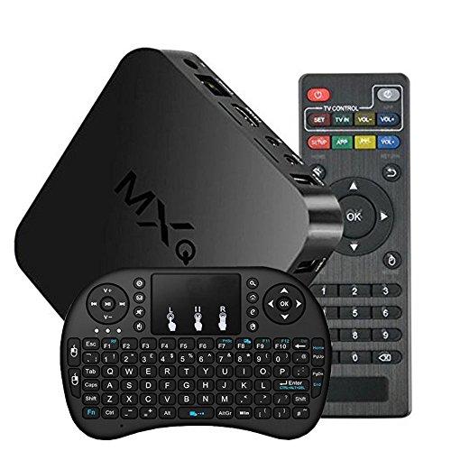 Develop MXQ Google Android 4.4 Smart TV Box Full HD Mini PC KODI XBMC Streaming Media Player Internet Amlogic S805 Quad Core Set Top Box With I8 Mini Key Borad Air Mouse