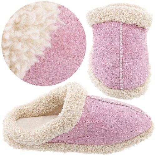 Cheap Pink Clog Cozeez Brand Style Slippers for Women (B005NKKKKC)