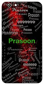 Prasoon (Flower) Name & Sign Printed All over customize & Personalized!! Protective back cover for your Smart Phone : Apple iPhone 5/5S