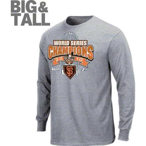 San Francisco Giants Big & Tall 2010 World Series Champions Official Locker Room Long Sleeve T Shirt